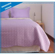 Lavendel Einfarbiges Polyester Quilt Set