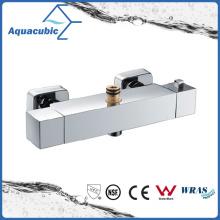 Square Exposed Bar Mixer Shower Valve Thermostatic Chrome Bathroom Set (AF4311-7)