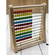 Ensemble d'abacus en bois, jouet pédagogique en bois