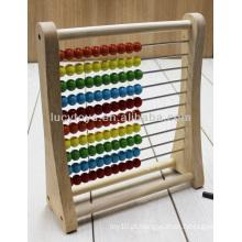 Madeira abacus rack brinquedo educativo de madeira