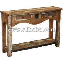 recycle wood console table