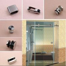 Système de porte de douche coulissante en acier inoxydable
