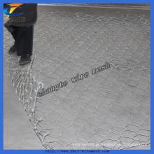 Galvanizado Gabion Preço de malha de arame, PVC revestido Gabion Box