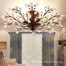 Ceiling mounted modern crystal chandelier 52186