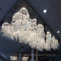 White Hotel Decorative Large Project Crystal Chandelier for Convention Hall