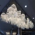 Белый отель декоративные большой проект Хрустальная Люстра для Конференц-зал