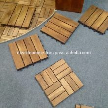 12 Slats Decking Tiles Made of Acacia - Long Lasting Deck Tiles 2017