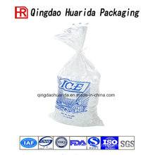 High Clarity Custom Logo Whicketed Ice Bags with Handle