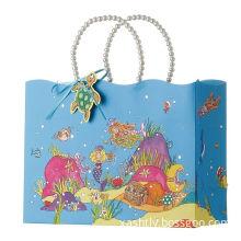 Pp Rope Luxury Custom Printed Gift Bags For Birthday Gift 26cm X 12cm X 32.5cm
