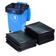 Schwarzer HDPE-Müllsack