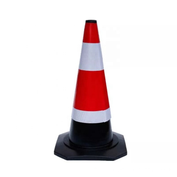 High Reflective Customized Logo Orange Road Safety Rubber Traffic Cone