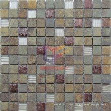 Kitchen Used Glass Mix Stone Mosaic (CS230)