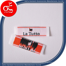 Etiqueta de tecido macio de alta densidade de marca personalizada barata / etiqueta principal / etiqueta de pescoço