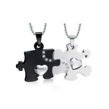 Красивый черный и белый кулон,двойной кулон медальон ювелирных изделий дизайн