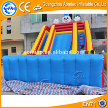 Outdoor cheap giant inflatable double lane slip n slide for adults