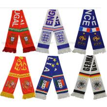 OEM Sport Football Club Fan Shawl Scarf for Promotional Gift