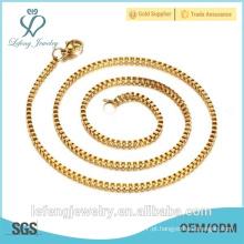 316 aço inoxidável colar corrente cadeia caixa de ouro