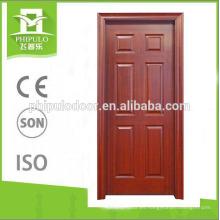 2018 nuevo diseño de varios colores MDF puerta de madera de melamina