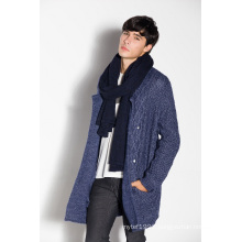 Fashion Lapel Knitting Men Cardigan Coat Sweater with Button