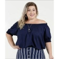 Blusa de moda con hombros descubiertos y talla grande para mujer
