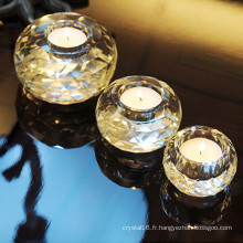 Bougeoir en verre cristal Eurpoean romantique