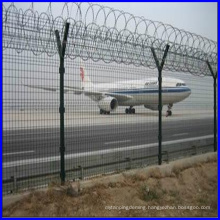 DM triangle bending welded airport fence, airport fence with Y shape post