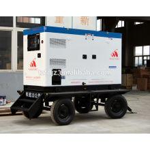 75KW Cummins Diesel Generator Set Mobile Silent Trailer Type with CE certificate