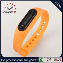 Montre bon marché de podomètre de silicone de promotion / bracelet de podomètre