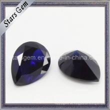 Pera Violeta Oscuro Piedra Cíclica Cubic Zirconia