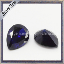 Dark Violet Pear Cut Cubic Zirconia Gemstone
