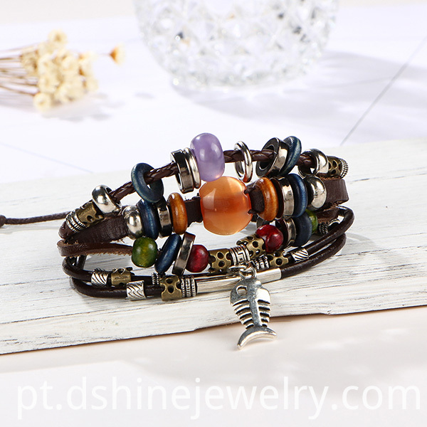 Retro Beads Handmade Bangle