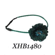 Moda cetim big flower headband (xhb1480)