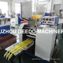 Palha de colher de plástico que faz a máquina