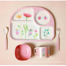 (BC-CS1074) Natural Bamboo Fiber Tableware Set for Kids