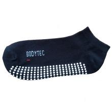 Hombres mujeres antideslizante algodón llano calcetines deportivos para el trampolín (asc-02)
