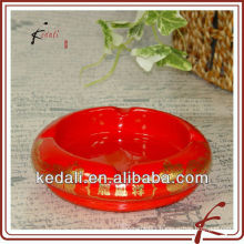 oem ceramic branded ashtray with logo
