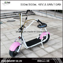 2016 Fashion Wide Tire Electric Scooter Small Size 800W 48V 10ah City Coco