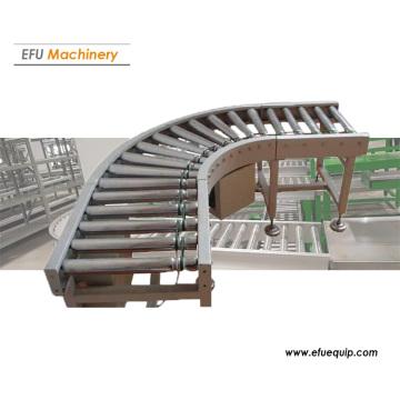 Transportador de rolos curvos industriais