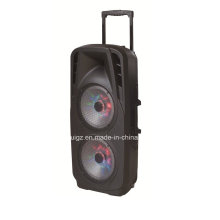 Double 15inch Outdoor Battery Speaker with Bluetooth LED Light F73D