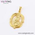 33182 bijoux xuping pendentif religieux simple ronde mère plaquée or 24k