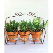 Plastic Mini Artificial Bonsai Plants With Bonsai Pot