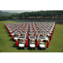 Carrinho de golfe elétrico do painel solar 4 Seater