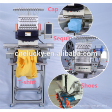 Cheap single head 15 colors computerized embroidery machine price for hat flat t-shirt shoes embroidery