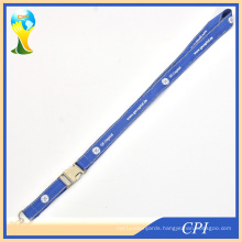 Blue Reflective Weaving Lanyard with Metal Buckle