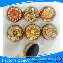2015 customized decorative promotion gift crystal glass magnet