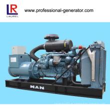 Geração de energia de gasificação de biomassa de 100kw com motor de homem