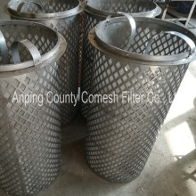 Round Hole Perforated Metal Filter Cylinders