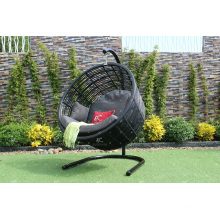 Modern Round Swing Chair Poly Rattan Hammock