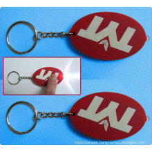 New Design 3D Soft PVC LED Turbo Keychain