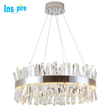Hot Selling Stainless Steel led crystal ceiling lamp dining room modern chandelier
